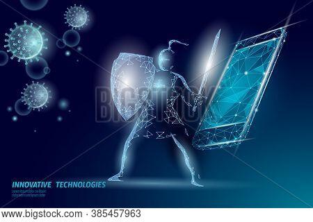 Phone Service Repair Help Business Concept. Fatal Mobile Smartphone System Crash. Software Error Bug