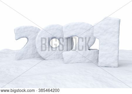 Happy New Year 2021 Sign Text Written With Numbers Made Of Snow On Snow Surface Winter Snow Symbol 3