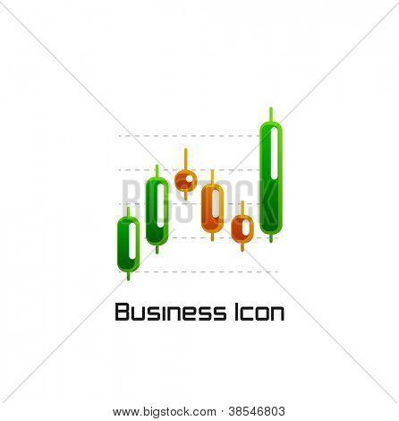 Stock chart bar icon