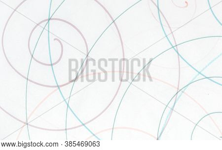 Blue Abstract Scribble Wallpaper. Tangled Paint Drawing. Simple Grunge Artwork. Entangled Circular B