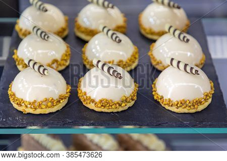 Fancy Cakes With Gold Decor At Slate
