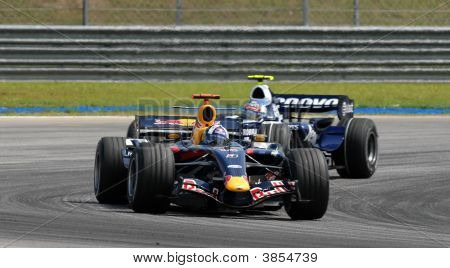 Red Bull Racing Rb3 David Coulthard British F1 Sepang Malaysia 2007