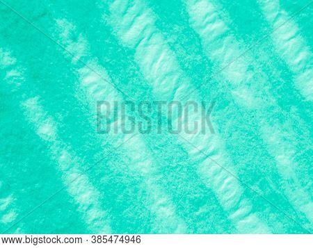 Blue Stripe Tie Dye. Geometric Ethnic Ornament. Monochrome Handmade Wallpaper. Tie Dye Texture. Gree