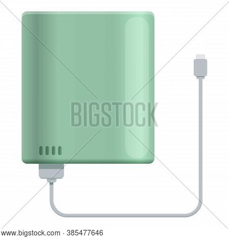 Display Power Bank Icon. Cartoon Of Display Power Bank Vector Icon For Web Design Isolated On White