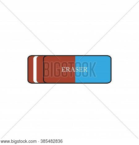 Icon Of An Eraser. Stationery. Simple Vector Illustration.