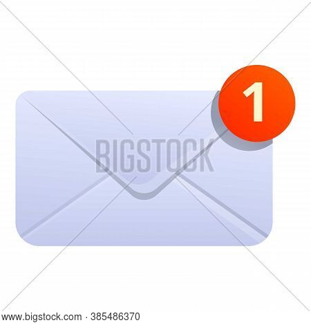 New Inbox Envelope Icon. Cartoon Of New Inbox Envelope Vector Icon For Web Design Isolated On White