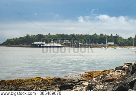 Armadale, Isle Of Skye, Scotland - August 22, 2020: Calmac Ferries Terminal Building At Armadale And
