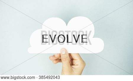 Text Sign Showing Evolve Text . Business Concept