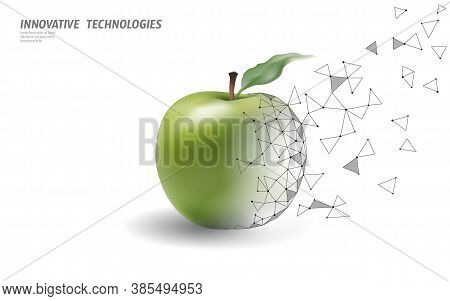 Gmo Apple Gene Modified Plant. Science Chemistry Biology Genetics Engineering Innovation Organic Eco