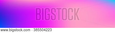 Purple, Pink, Turquoise, Blue Gradient Shiny Vector Background. Dreamy Neon Bright Trendy Wallpaper.