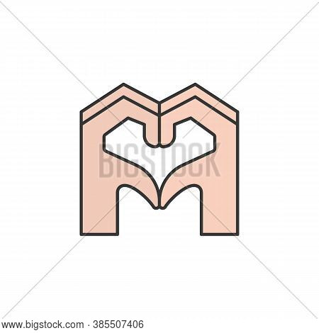 Sympathy Hands Friendship Outline Icon. Elements Of Friendship Line Icon. Signs, Symbols And Vectors
