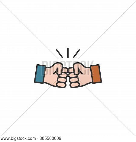 Brotherhood Hands Outline Icon. Elements Of Friendship Line Icon. Signs, Symbols And Vectors Can Be