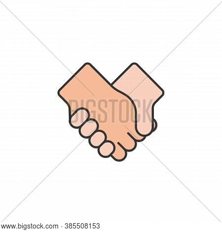 Shake Hands Friendship Outline Icon. Elements Of Friendship Line Icon. Signs, Symbols And Vectors Ca