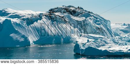 Icebergs in Greenland - Global warming and climate change concept.