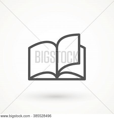 Reading Line Icon, Book Vector On White Background Simple Illustration Of Open Book Vector Icon For