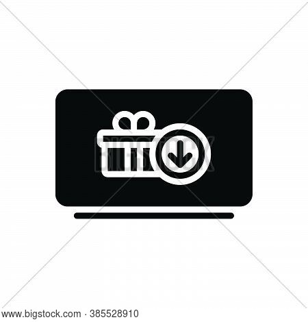 Black Solid Icon For Receive Obtain Earn Go-in-for Derive Attain Be-given Collect Online Digital