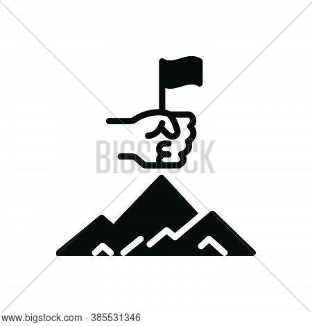 Black Solid Icon For Passion Zeal Enthusiasm Fervor Incandescence Euphoria Success Achievement Win