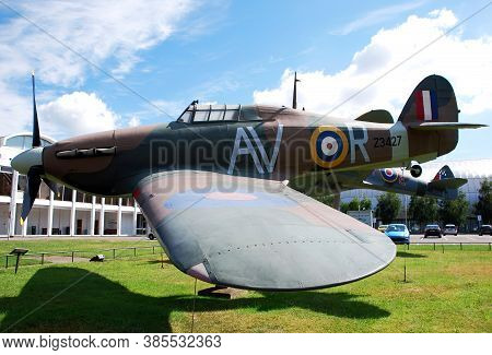 Royal Air Force (raf) Museum / Hendon, London, Uk - June 29, 2014: A Spitfire And A Hurricane On Dis