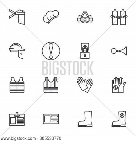 Mandatory Signs Line Icons Set, Outline Vector Symbol Collection, Linear Style Pictogram Pack. Signs
