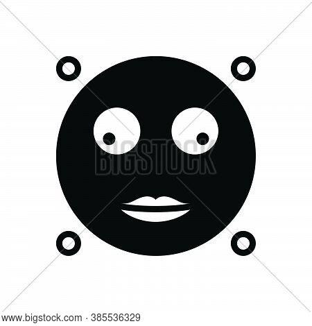 Black Solid Icon For Glance Look-briefly Glimpse Peep Scintilla Emoji