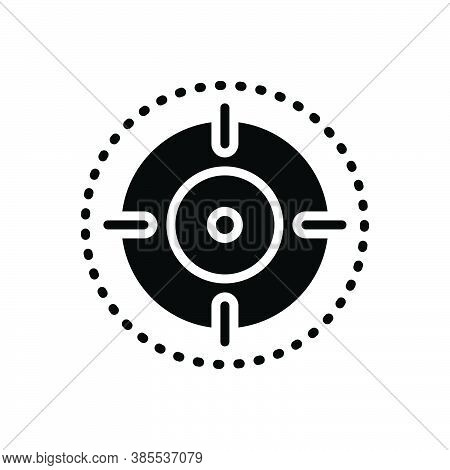Black Solid Icon For Scope Extent Range Zone Realm Target Bullseye Sport Focus Midpoint
