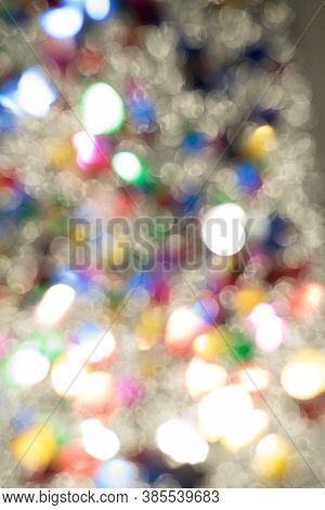 Abstract Glitter Color Lights Chrismas Background. De-focused - Image