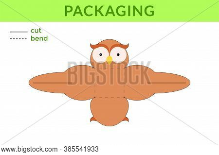 Adorable Diy Party Favor Box For Birthdays, Baby Showers With Cute Owl For Sweets, Candies, Small Pr
