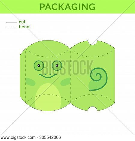 Adorable Diy Party Favor Box For Birthdays, Baby Showers With Chameleon For Sweets, Candies, Small P