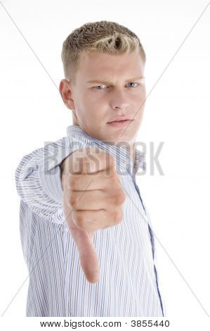 Man Showing Disapproval Sign