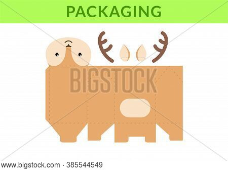 Adorable Diy Party Favor Box For Birthdays, Baby Showers With Cute Deer For Sweets, Candies, Small P
