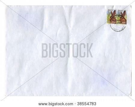 BELARUS - CIRCA 2008: Mailing envelope with postage stamps dedicated to Rat,circa 2008.