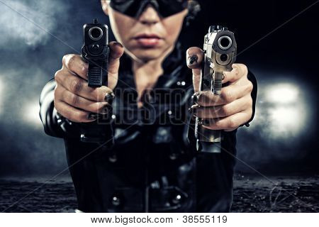 special  tactics sexy woman holding up her weapon poster