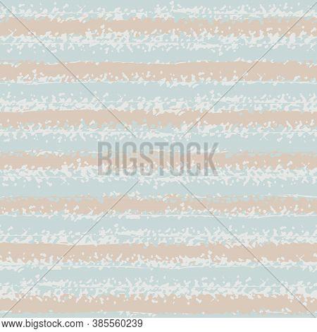 Modern Grunge Striped Vector Seamless Pattern Background. Backdrop Of Horizontal Pastel Pink And Blu