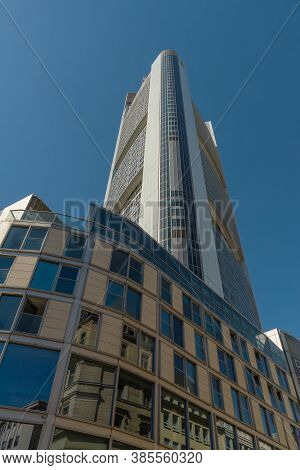 Frankfurt Am Main, Germany-september 09, 2020: The Commerzbank Tower By Architect Norman Foster, Fra