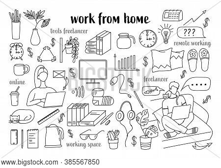 Remote Work, Freelance, Modern Information Technology Workplace, The Tools Of A Freelancer And Worki