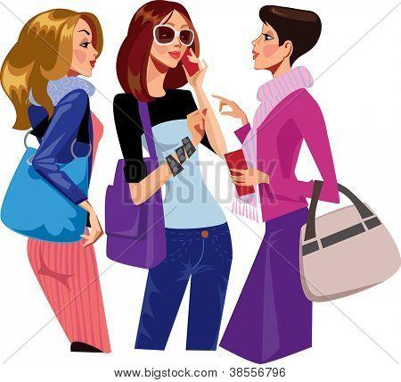 chattering women