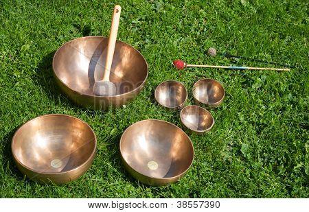 Tibetan singing bowls for sound healing