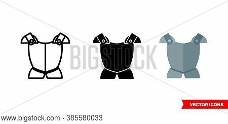 Armour Icon Of 3 Types Color, Black And White, Outline. Isolated Vector Sign Symbol.