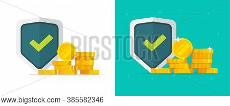 Financial Insurance Guarantees Money Gold Protection Set, Cash Investment Secure Safety Care Warrant