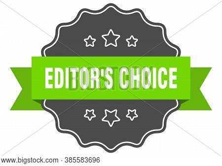 Editors Choice Label. Editors Choice Isolated Seal. Sticker. Sign