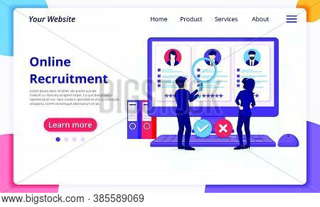 Hiring And Recruitment Concept, People Searching Candidate For A New Employee, Human Resource, Recru