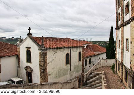 The Ancient Church In Coimbra City, Portugal