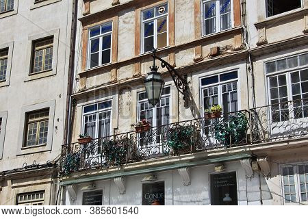 Coimbra / Portugal - 14 May 2015: The Vintage House In Coimbra City, Portugal