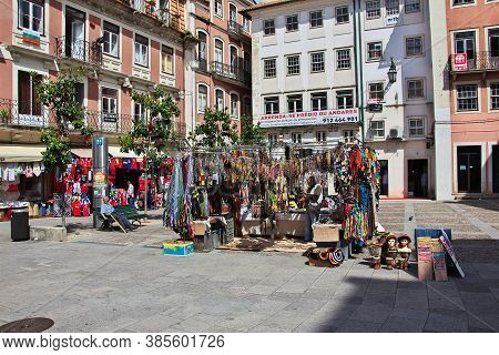 Coimbra / Portugal - 14 May 2015: Souvenirs In Coimbra City, Portugal