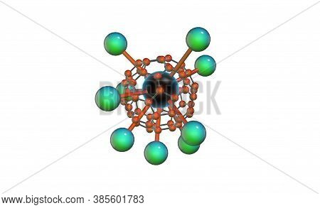 Complex And Complicated Molecular Structure 3d Rendering And 3d Illustration