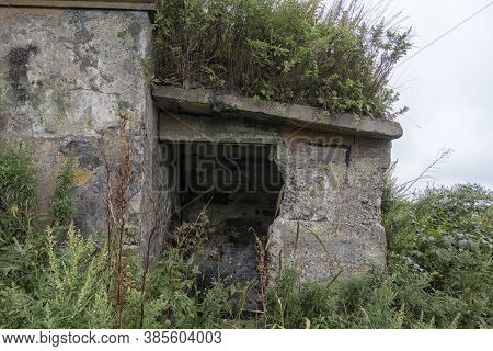 Old Abandoned Bunker In The Woods. Military Fort. Fort Suvorov, Vladivostok, Russia.