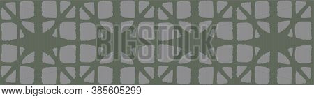 Japanese Tie Dye Seamless Pattern. Deco Shape Curve Design Bohemian Geometric Asian Tie Dye Texture.