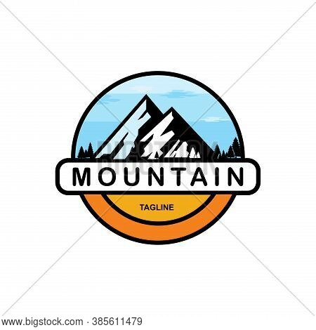 Mountains. Mountain Logo Vector. Mountain Icon Vector. Mountain Icon Flat. Mountains Logo. Hill Logo