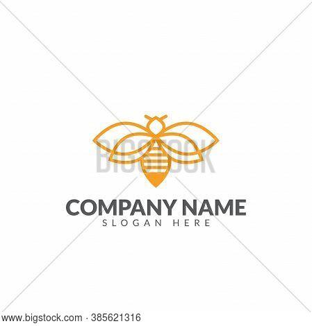 Honeybee Fresh Honey Logo Template Vector Design