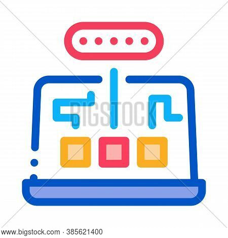 Computer Program Mistake Research Icon Vector. Computer Program Mistake Research Sign. Isolated Cont
